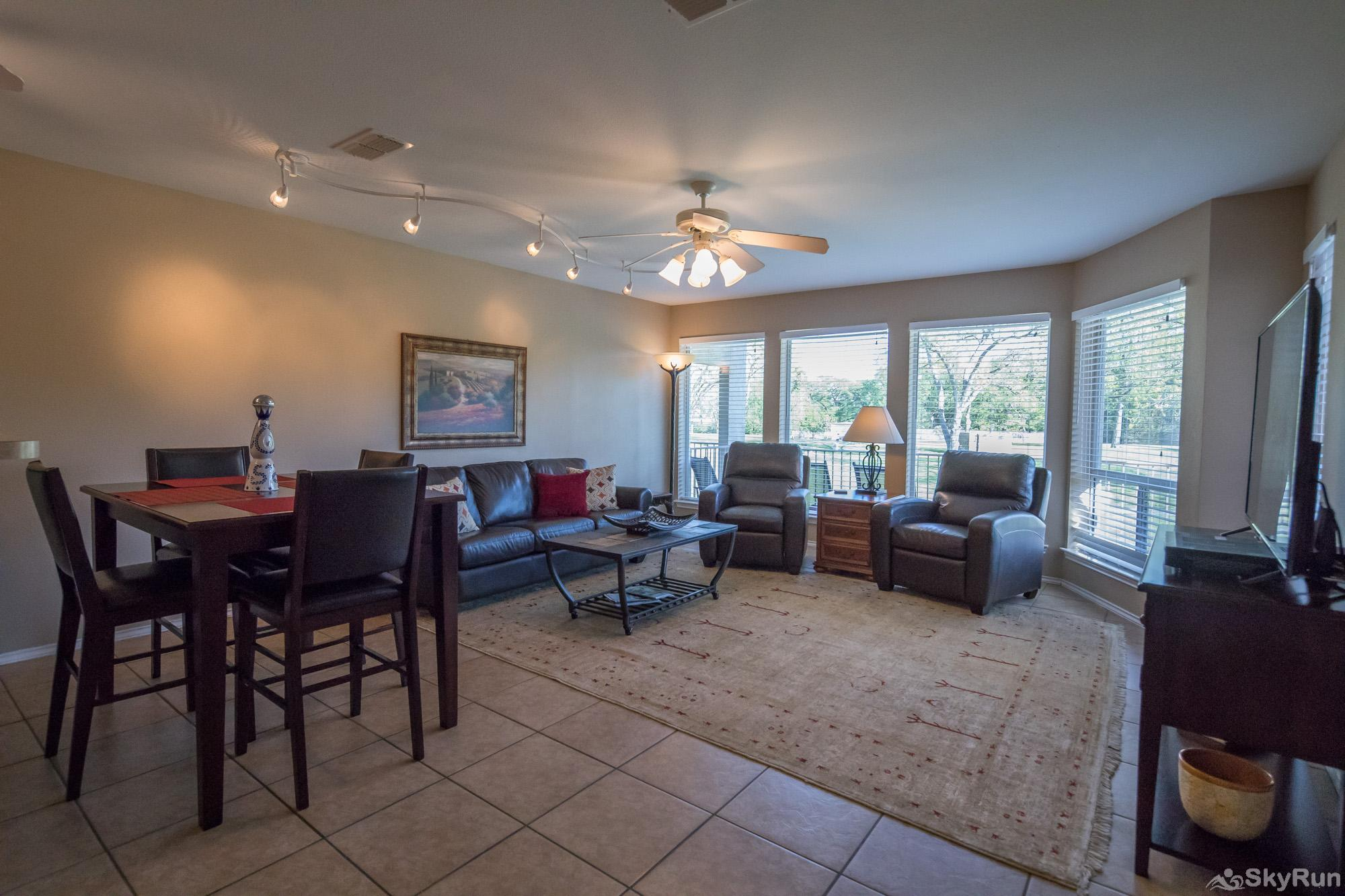 WATERWHEEL ESCAPE CONDO Open Living and Dining Areas